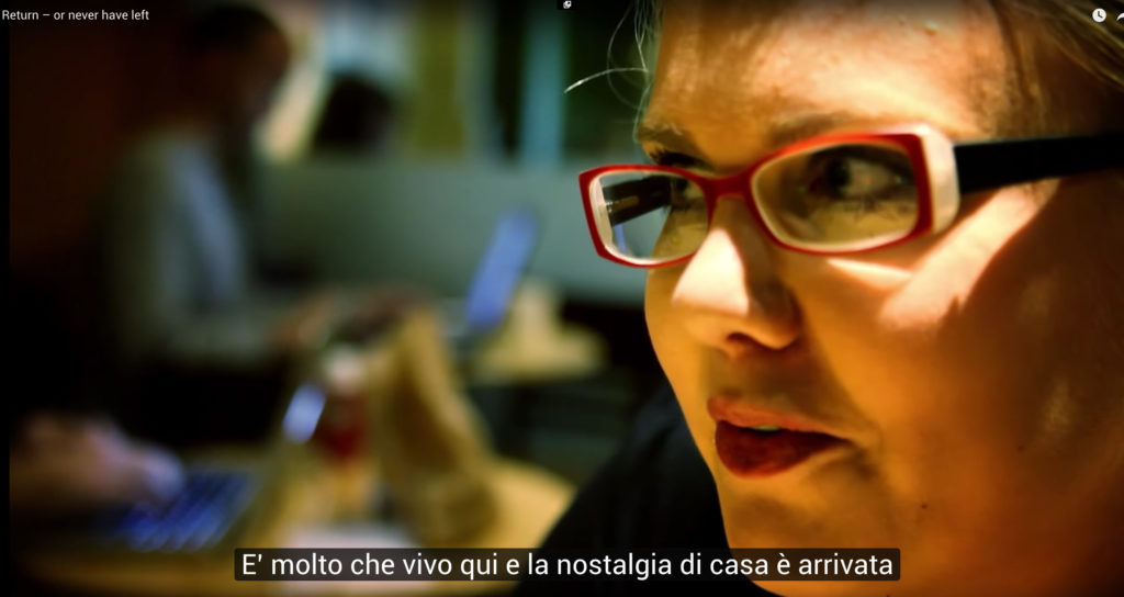 Fotogramma dal documentario Return or never have left