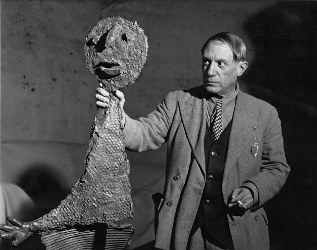 Brassaï, ritratto di Pablo Picasso, 1932