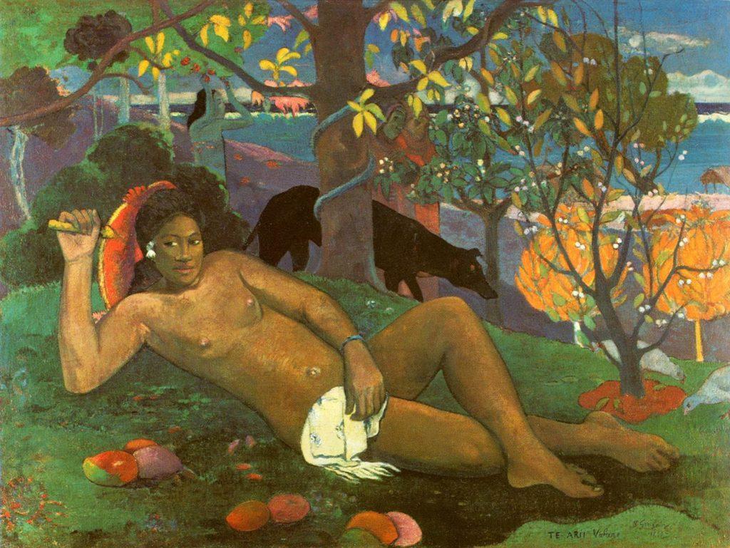 Te arii vahinè - La donna regale (o dei Manghi), Paul Gauguin (1896).