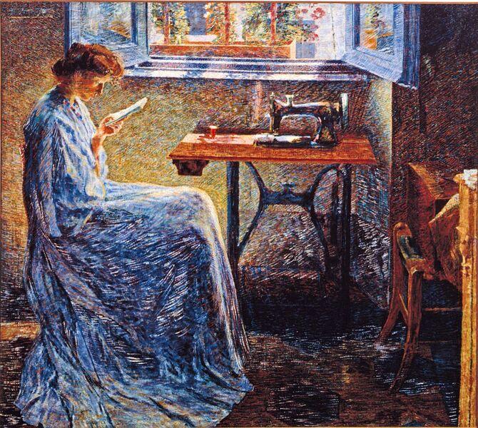 Umberto Boccioni, Romanzo di una cucitrice, 1908