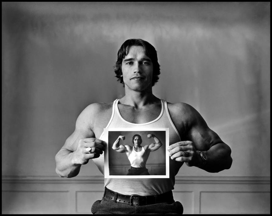 USA. 1977. Arnold SCHWARZENEGGER. Magnumphotos.com