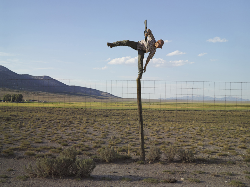 Tommy Trying to Shoot Coyotes, Big Springs Ranch, Nevada © Lucas Foglia