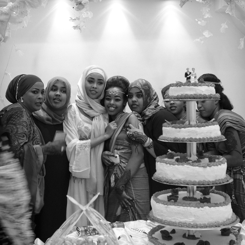 Girls at a wedding party in Hargeisa, Somaliland. 2015