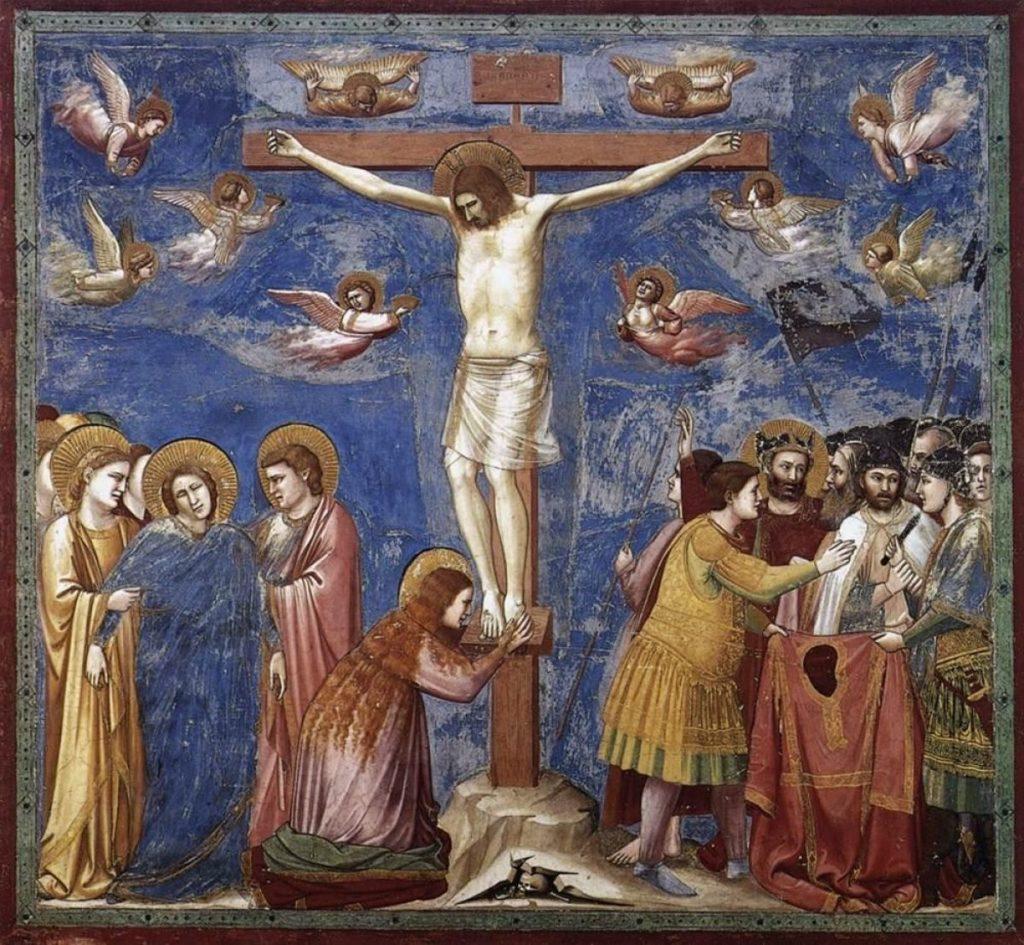 GIOTTO, Crocifissione, affresco, 1305, Cappella Scrovegni, Padova