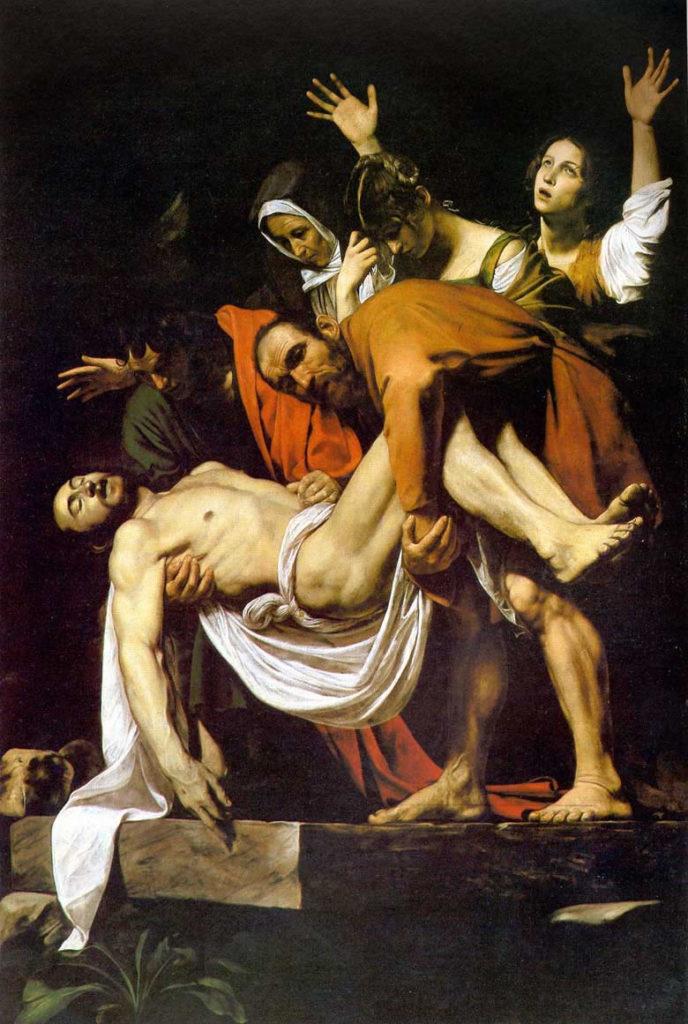CARAVAGGIO, Deposizione, 300x209, olio su tela, 1602-1603, Città del Vaticano, Musei Vaticani
