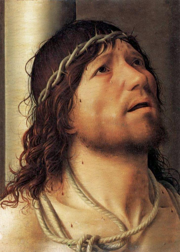 ANTONELLO DA MESSINA, Cristo alla colonna, 29,8x22, olio su tavola, 1476, Parigi, Louvre