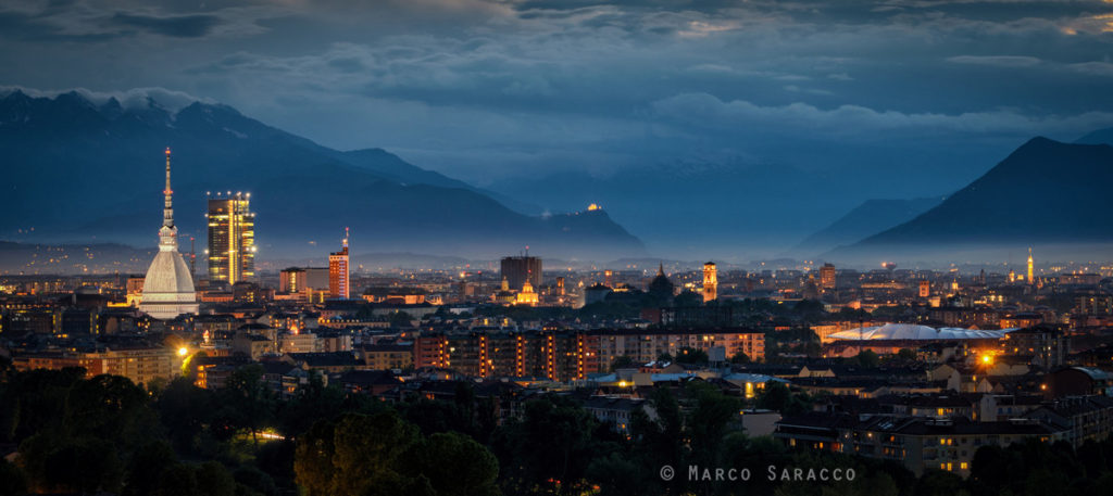 Lo skyline di Torino fino all'imbocco della Val di Susa
