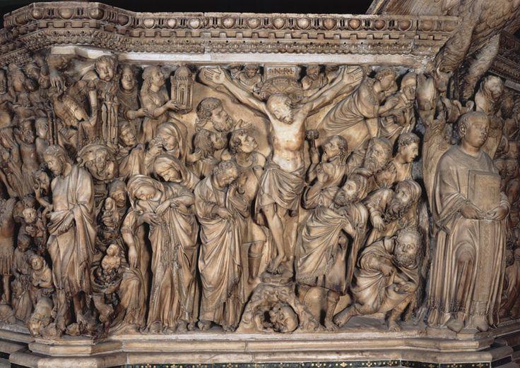 NICOLA PISANO, Crocifissione (Pulpito del Duomo di Siena), marmo, 1266-1268