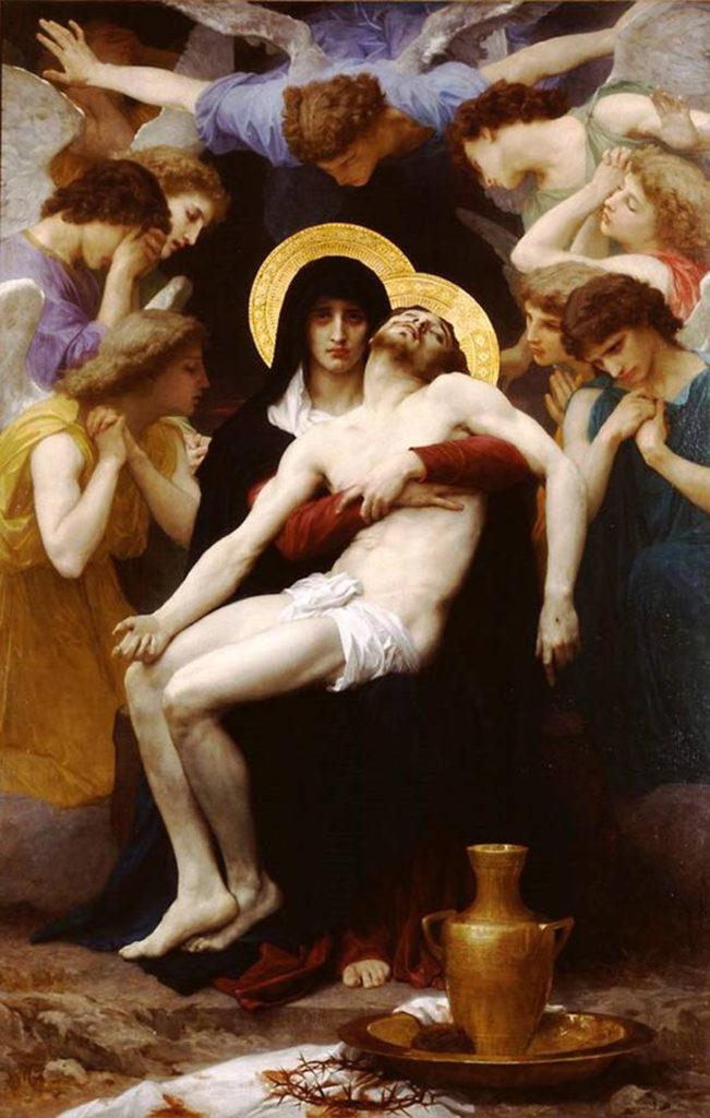 WILLIAM-ADOLPHE BOUGUEREAU, Pietà, 230x148, olio su tela, 1876, collezione privata