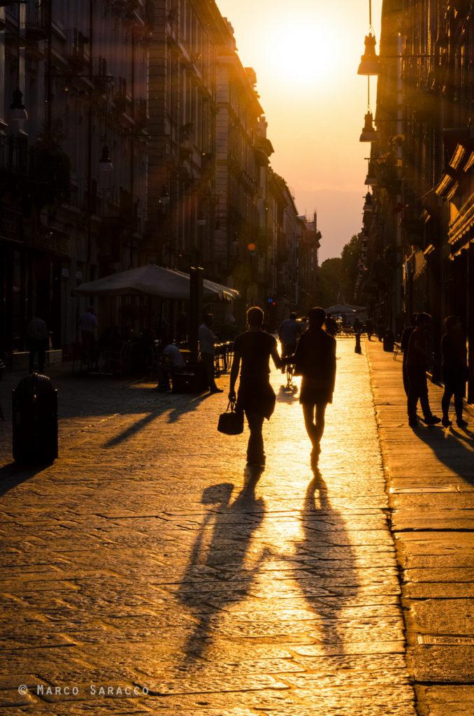 Torino, via Garibaldi al tramonto © Marco Saracco