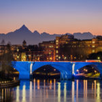 Torino, il fiume Po e il Monviso sullo sfondo © Marco Saracco