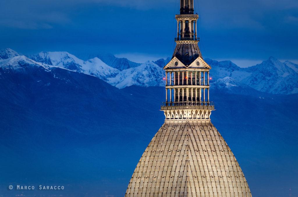 Torino, la Mole Antonelliana e le Alpi sullo sfondo © Marco Saracco