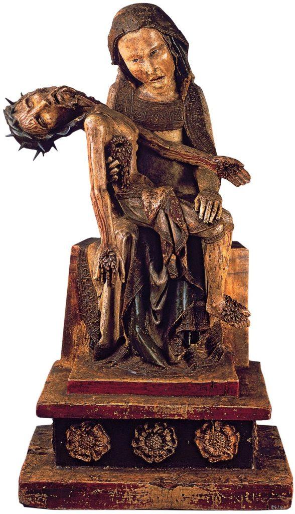 Pietà Roetgen, legno policromo, metà XIV sec., Bonn