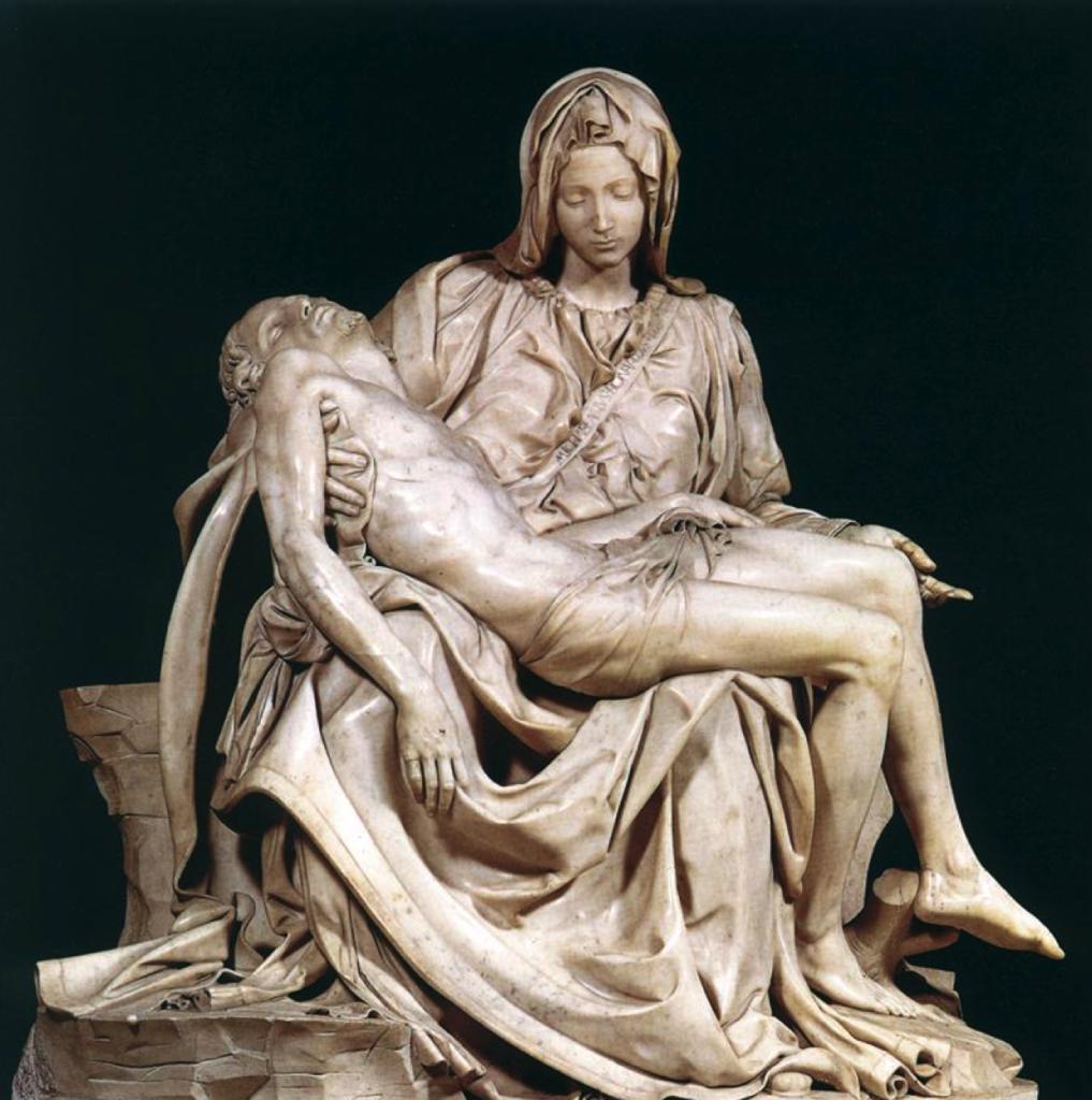 MICHELANGELO, Pietà, 1497-99, 174x195, marmo di Carrara, San Pietro in Vaticano