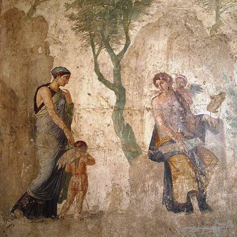 Punizione di Eros, affresco di Pompei