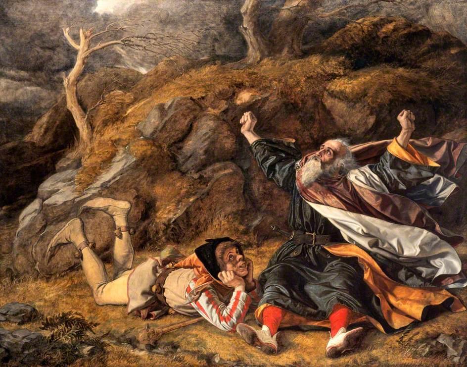 """""""Re Lear e il Buffone nel mezzo del temporale"""" di William Dyce (1806-1864)"""