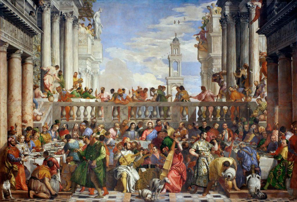 Nozze di Cana, Paolo Veronese, 1563, Museo del Louvre, Parigi