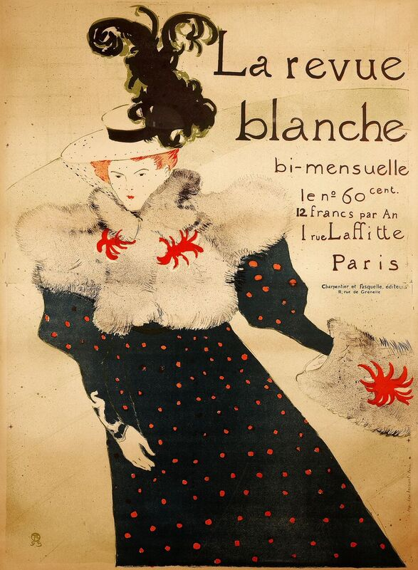 La Revue Blanche, Henri de Toulouse-Lautrec, 1895, litografia a colori, 125, 5 x 91, 2 cm