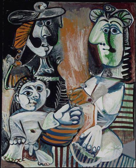La famiglia 1970, Mougins Olio su tela, 162x130 Musèe National Picasso, Parigi